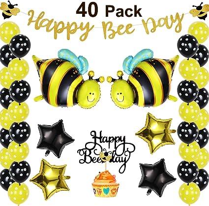 Amazon.com: 40 piezas Bumblebee decoraciones de fiesta ...
