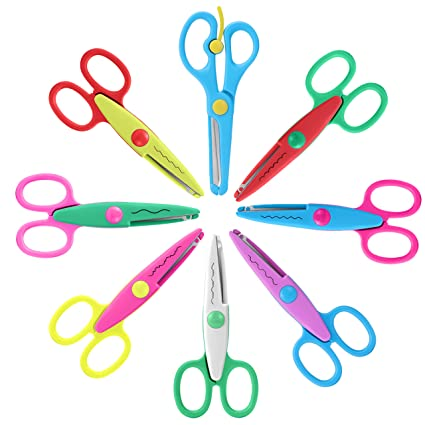 Cutting Supplies Scissors Special Section Diy Cutting Supplies Craft Scissors For Paper Border Cutter Scrapbooking Kids Gift Home Decoration 1 Pcs