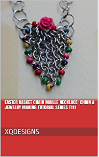 Easter Basket Chain Maille Necklace: Chain & Jewelry Making Tutorial Series T111