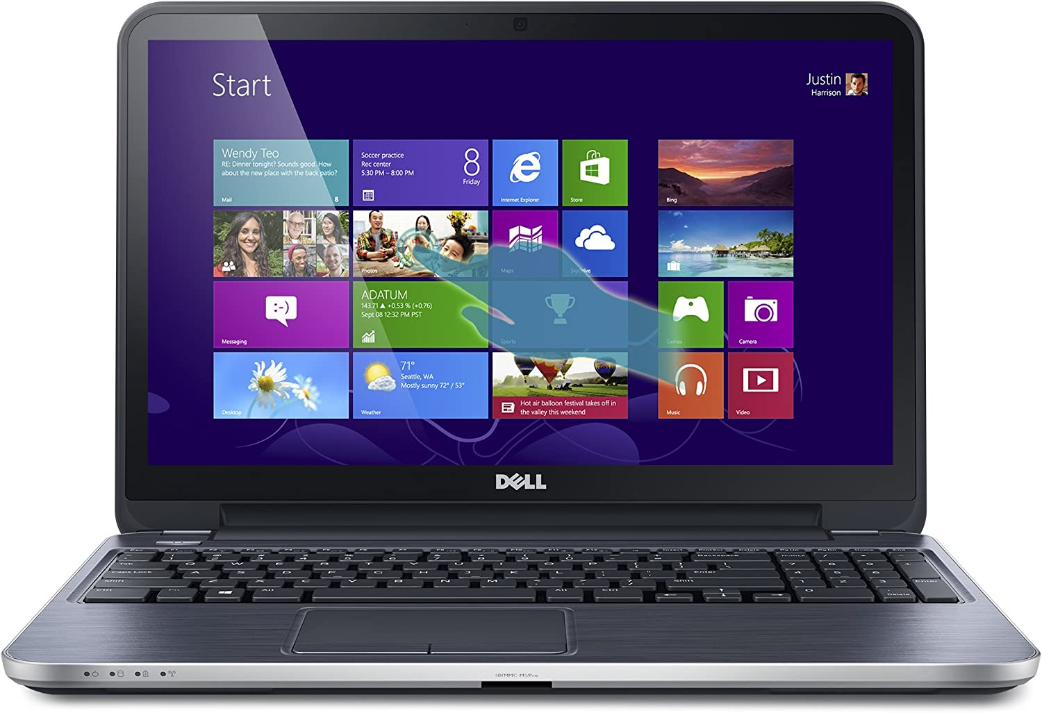 Dell Inspiron i15RMT-5124sLV 15.6-Inch Touchscreen Laptop (1.6 GHz Intel Core i5-4200U Processor, 6GB DDR3L, 500GB HDD, Windows 8) Moon SIlver [Discontinued By Manufacturer]