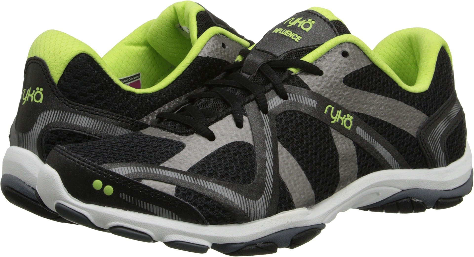 Ryka Women's Influence Black/Sharp Green/Forge Grey/Met Iron Grey 9 D US by Ryka (Image #1)