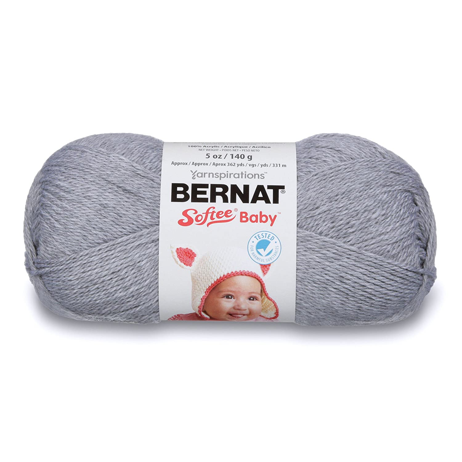 White 1 Ball 5 oz Bernat Softee Baby Yarn