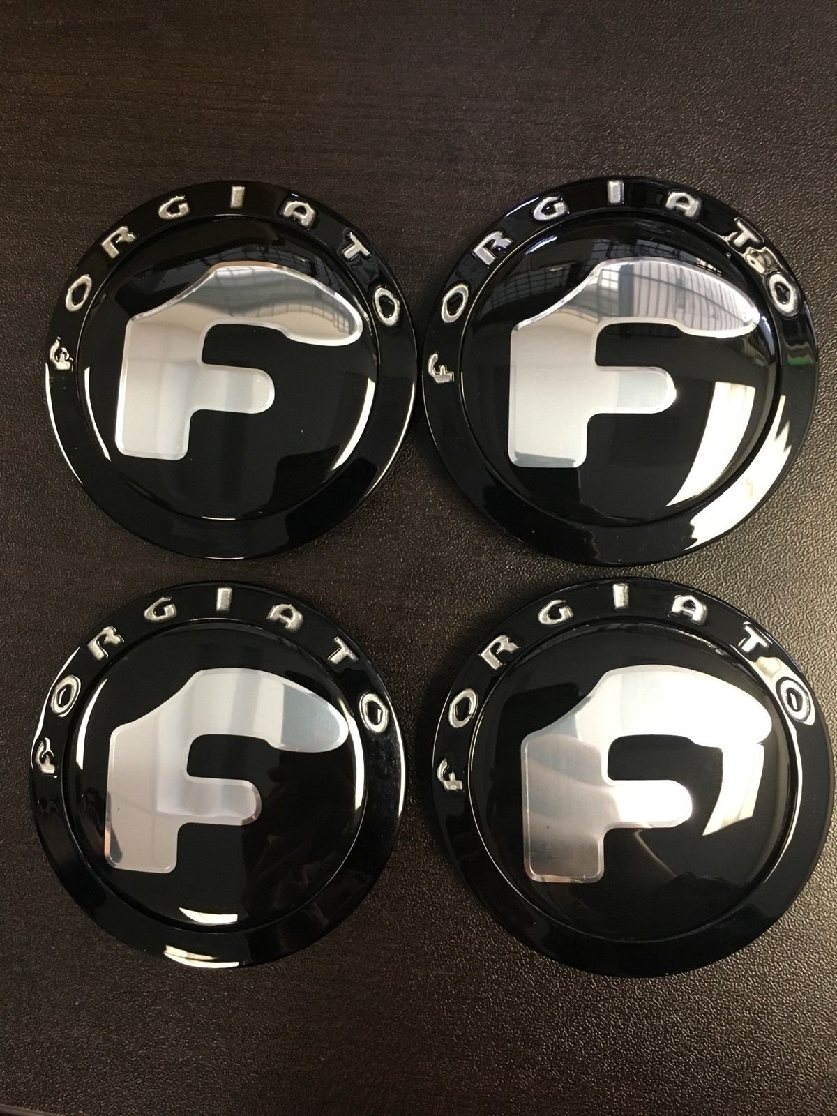 FORGIATO GLOSS BLACK wheel caps (set Of 4)