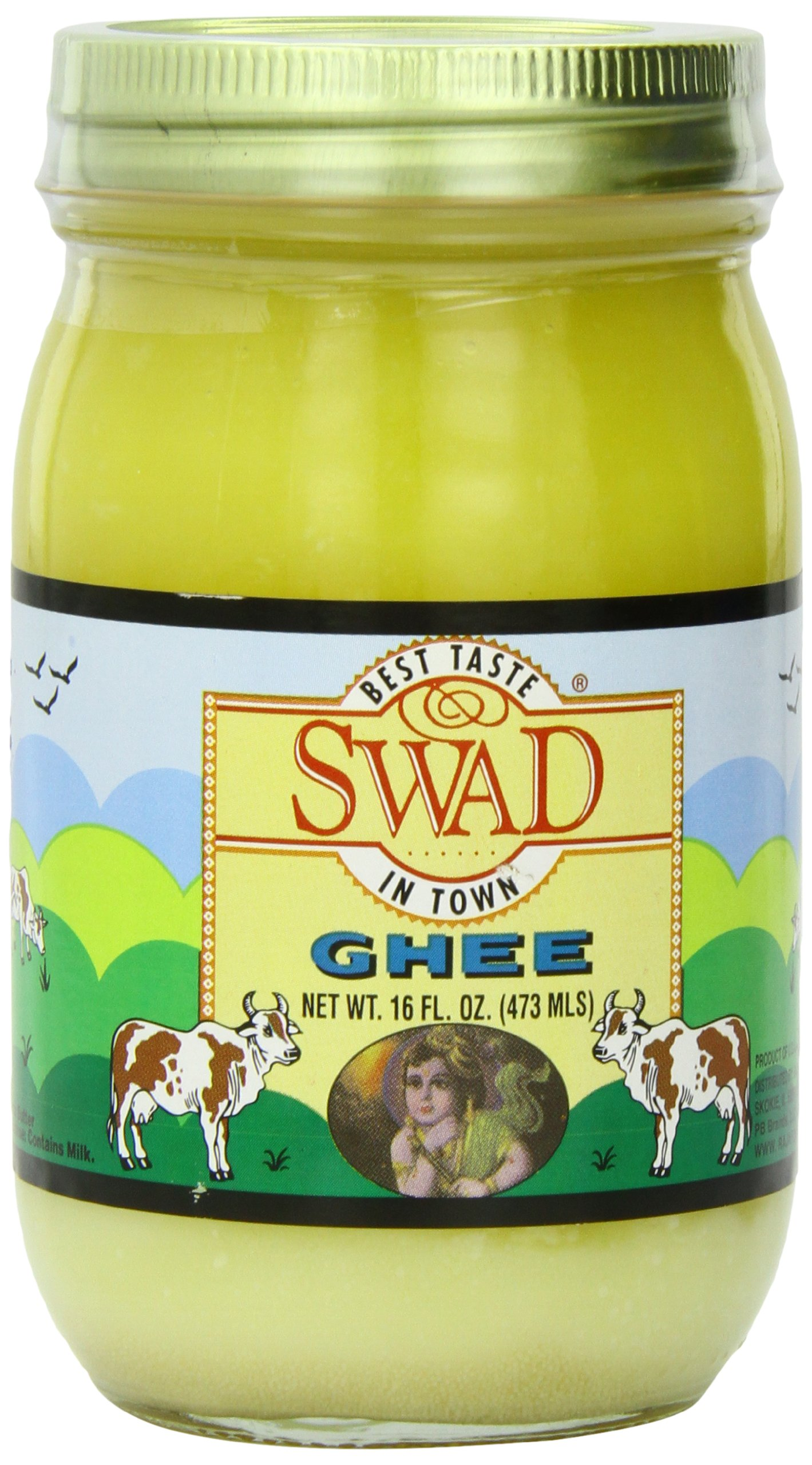 Swad Butter Ghee (Clarified Butter), 16.0 Ounce