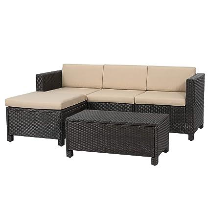 Amazon.com: Muebles de mimbre de patio para exteriores ...