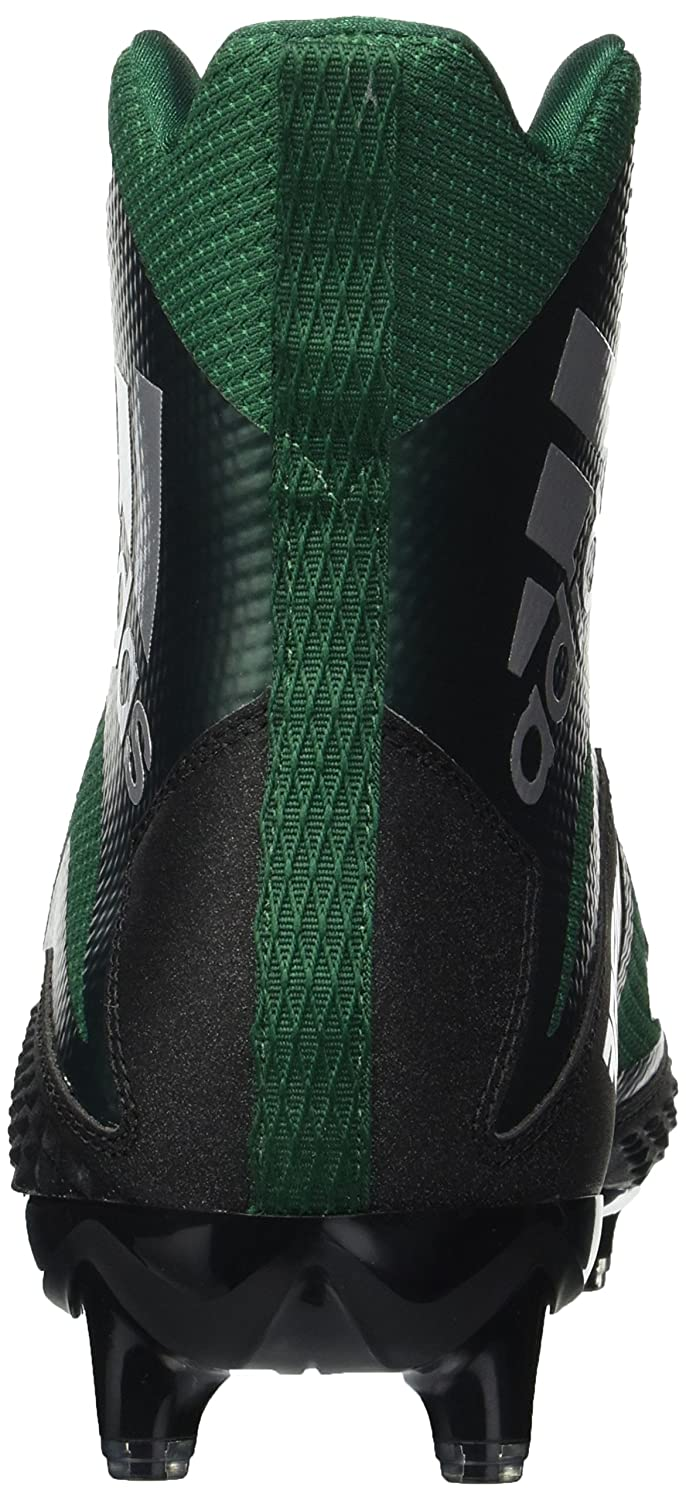 adidas Mens Freak X Carbon Mid Football Shoe 12 M US core Black//White//Dark Green