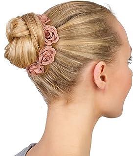 Six Haarschmuck Elastisches Haargummi Mit Apricotfarbene Textil