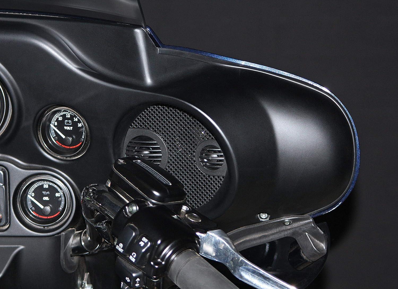 """J/&M Corporation J/&M ROKKER XXR 7.25/"""" Fairing Speaker Kit w//Grill Mounted Mid//Tweet for 1998-2013 Harley Street//Ultra//ElectraGlide # HCRK-7252GTM-XXR"""