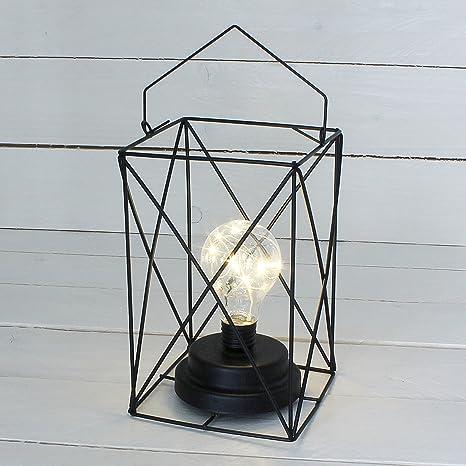 macosa Home moderna LED Lámpara de alambre de metal negro ...
