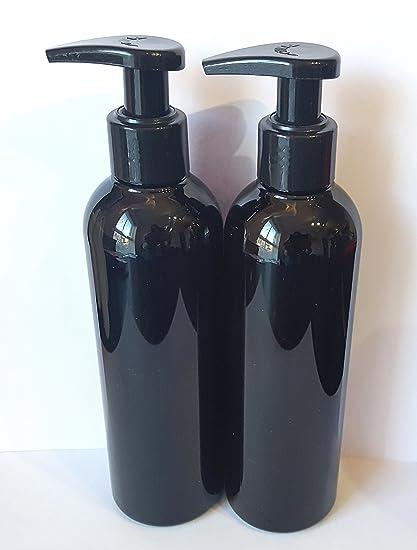 2 x 250 ml botella de plástico HDPE vacía con atomizador spray - reciclable
