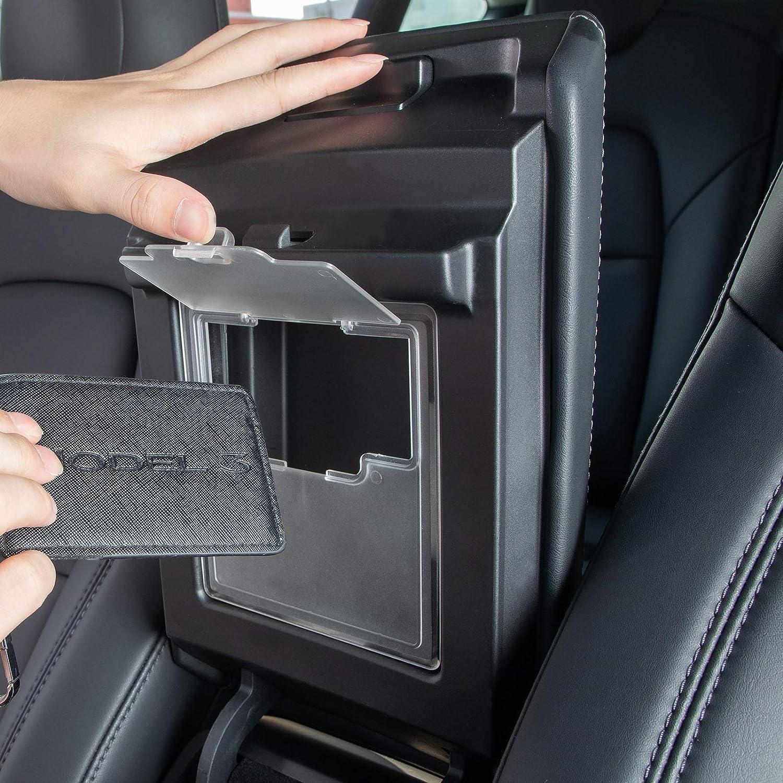 powoq Fit 2017-2019 Tesla Model 3 Center Console Organizer Tray Hidden Storage Box for 2017-2019 Model 3 Accessories