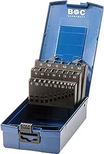 Bohrcraft 00811520025 de la Industria de plástico caja azul oscuro KR 13 vacíos de 25 de piezas para broca espiral HSS DIN 338: Amazon.es: Bricolaje y herramientas