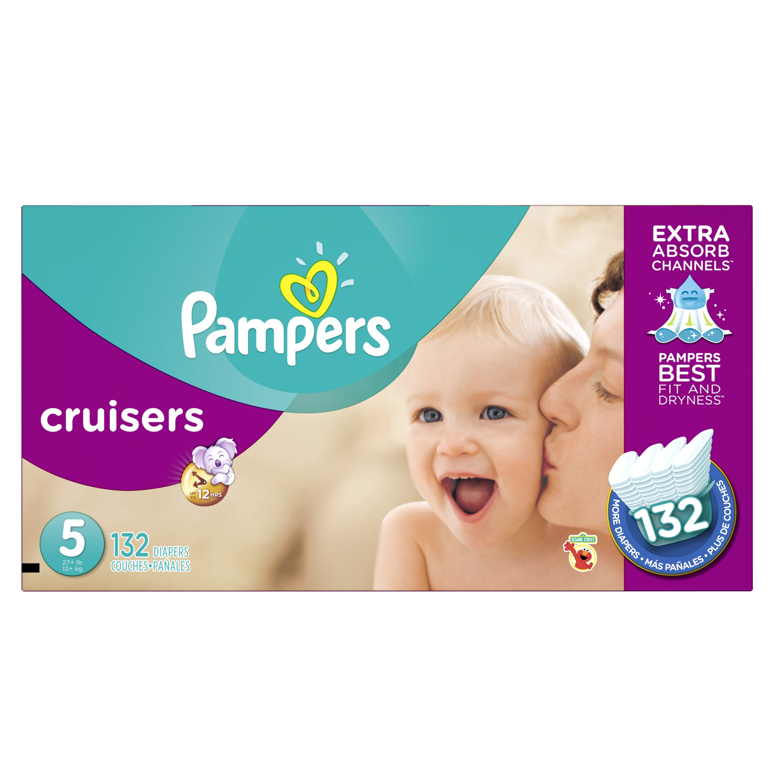 Pampers Cruisers Diapers Size 5 132 Count (old version) (Packaging May Vary)