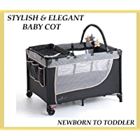 Baby Stepz - Baby Travel cot/Portacot playpen Bassinet with Change Table