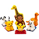PicassoTiles 7pc Magnetic Animal Action Figure Set for Magnet Building Block Educational STEM Learning Kit Construction…