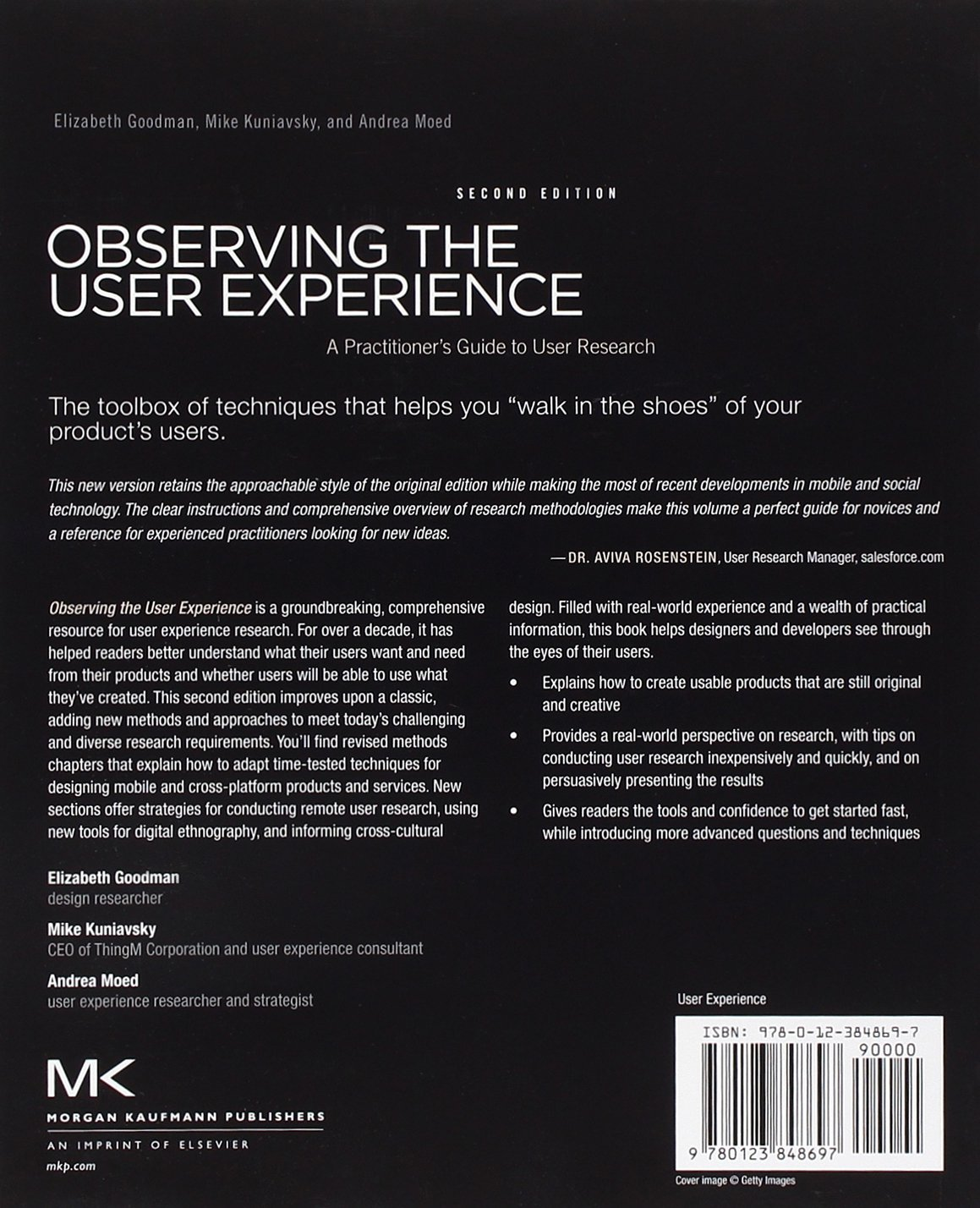 observing the user experience kuniavsky mike goodman elizabeth moed andrea