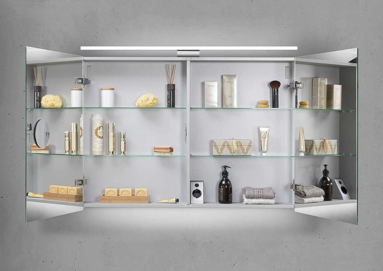Bad Spiegelschrank spiegelschrank bad 100 cm led beleuchtung doppelseitig verspiegelt