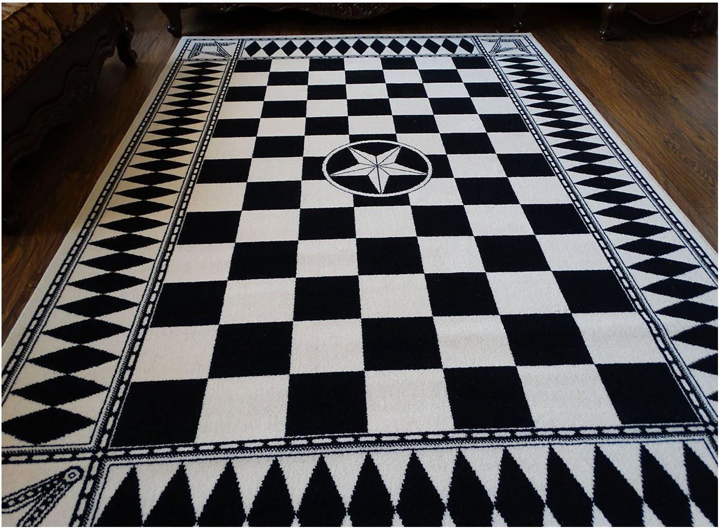 Masonic Australian Wool Area Rug Carpet Ring Apron Freemason Lodge Knights Templar Wool