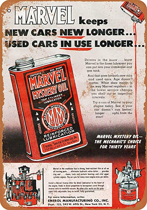 Shimeier Marvel Mystery Oil Retro Vintage - Cartel de Lata ...