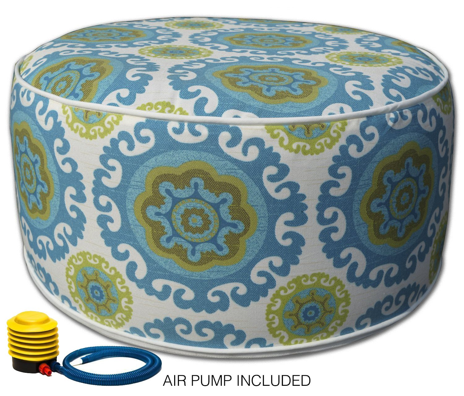Kozyard Inflatable Stool Ottoman Used for Indoor or Outdoor, Kids or Adults, Camping or Home (Blue) by Kozyard (Image #1)