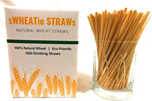 sWHEATie Straws |100% Natural Wheat Hay Straws for Drinking | Cocktail 500, Eco Friendly Biodegradable, Disposable, Safer than Reusable, for Home and Bars, Mom and Kid Approved!