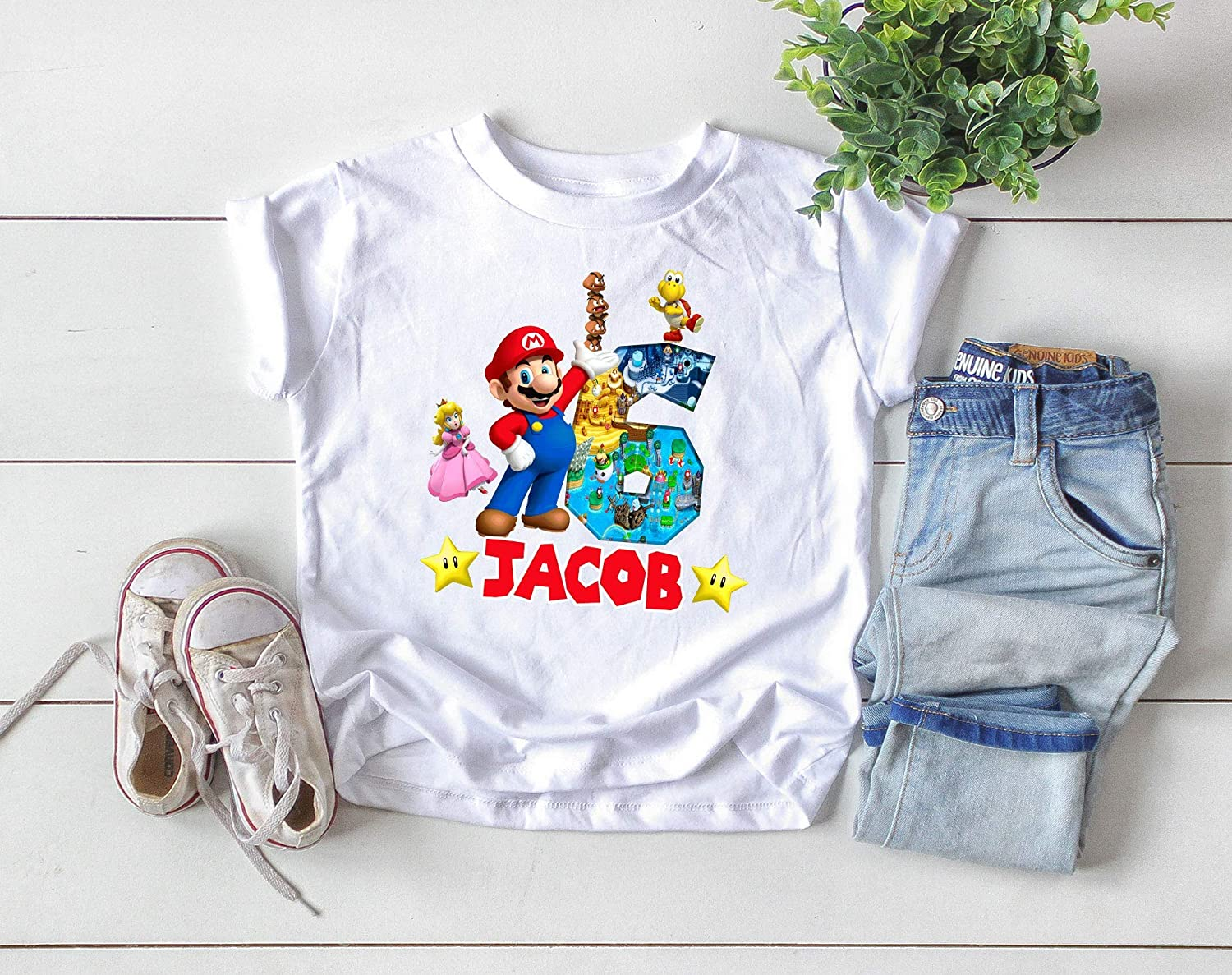 Girls Top Custom Kid/'s T-Shirts Children/'s Personalised Boys
