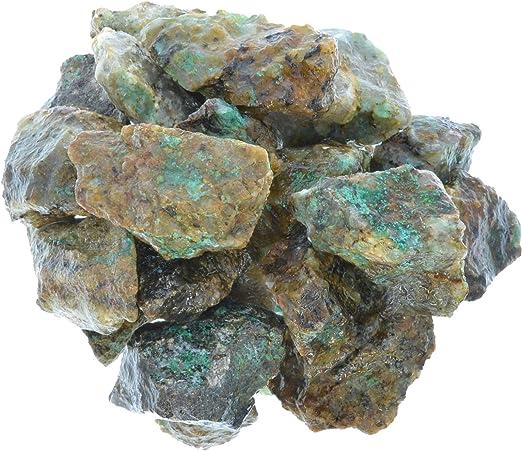 Tumble Rocks 3 Pounds of Chrysocolla Rough from Madagascar Reiki Cabbing