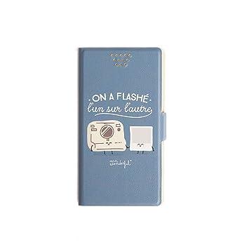 Mr. Wonderful Funda Smartphone Tipo Libro - Diseño Exclusivo Polaroid Compatible hasta 5 Pulgadas