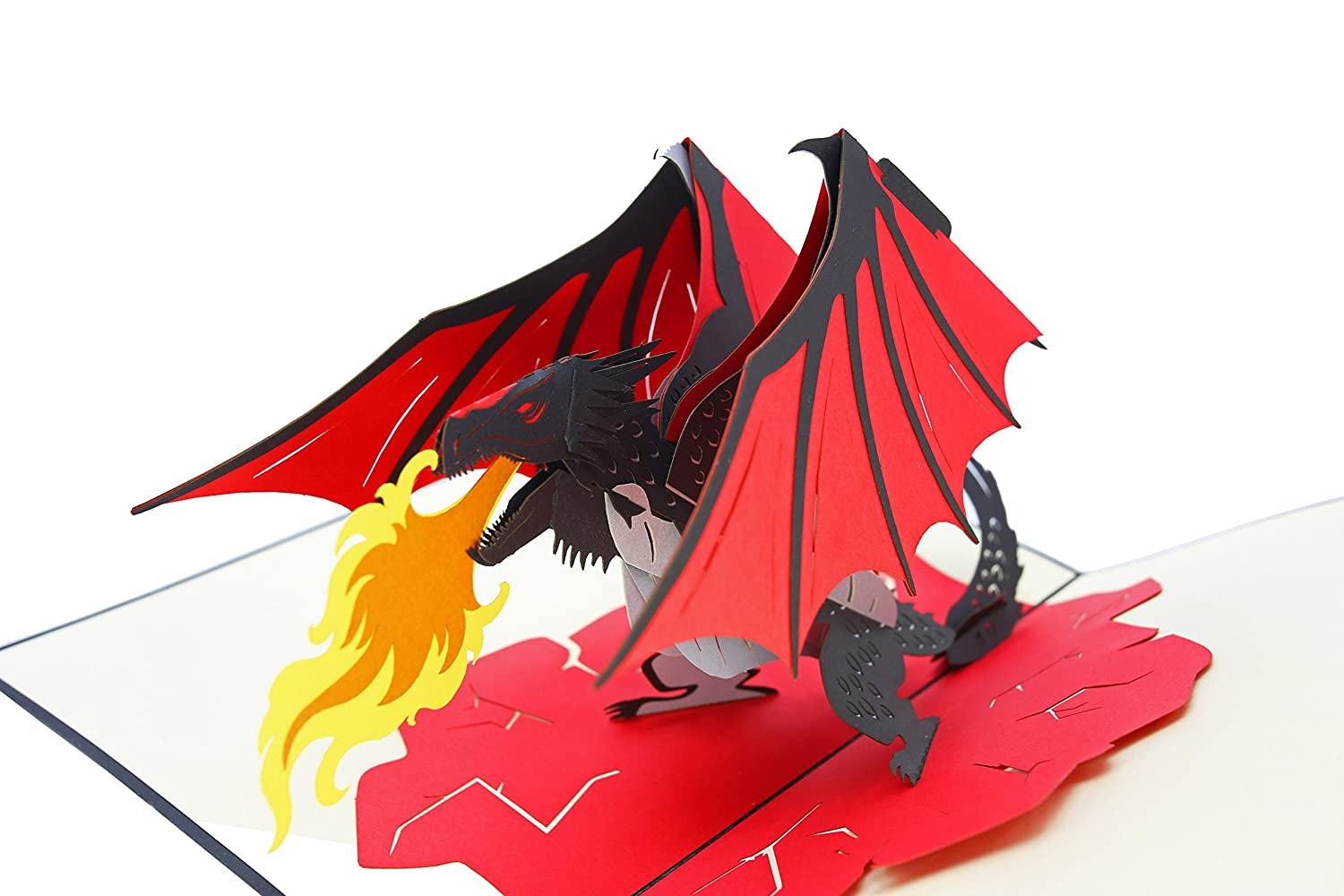 for Son Just Because Magical Gift LoTR PopLife Fire Breathing Dragon 3D Pop Up Fathers Day Card Dad Congratulations Pop Up Happy Birthday Card Fantasy Card Mythical Animal GoT Get Well