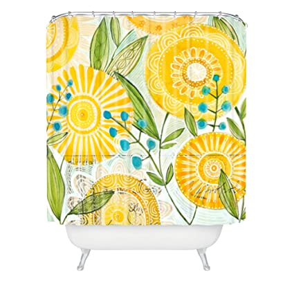 Amazon Deny Designs Cori Dantini Sun Burst Flowers Shower