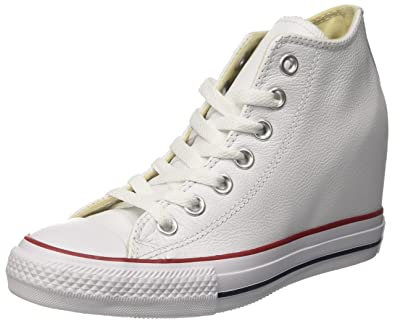 Converse Women's 549560c Hi-Top Trainers, Off White, 9 UK (42.5 EU