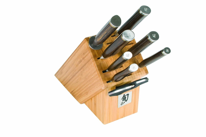 Shun TDMS0900 Premier 9-Piece Gourmet Block Knife Set