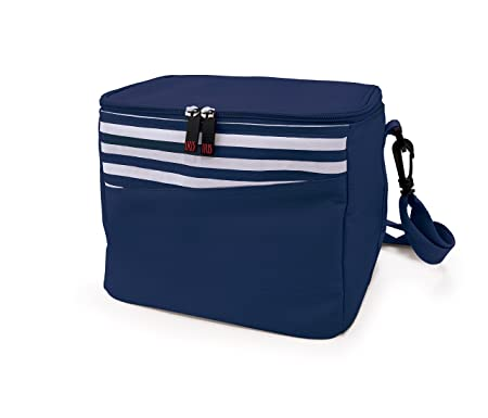 IRIS Mini Cooler Nevera, Tela, Azul y Blanco, 24x19x21 cm: Amazon ...