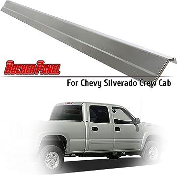 Amazon Com Ecotric Steel Rocker Panels Crew Cab Replacement For Chevy Chevrolet Silverado Gmc Sierra 1999 2007 4 Dr Automotive