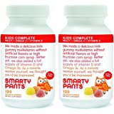 SmartyPants Children's All-in-One Multivitamin Plus Omega-3 Plus Vitamin D, 120 COUNT (Pack of 2)