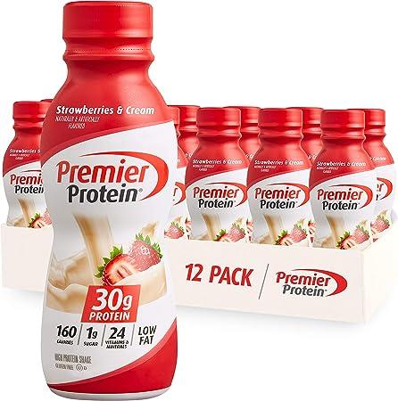 Premier Protein Shake -24 Vitamins & Minerals/Nutrients to Support Immune Health, Strawberries, 138 Fl Oz