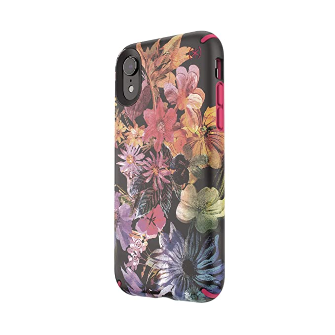 online store 8303c d5e73 Speck Products Presidio Inked iPhone XR Case, DigitalFloral/Cerise Red