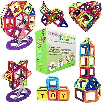 Blocs de Construction Magnétiques – Cadeaux de Luxe pour Les Enfants – Blocs de constructions aimantés – Jeux pour garçons et Filles – Créatif et éducatif pour Enfants de 2, 3, 4, 5, 6, 7 Ans