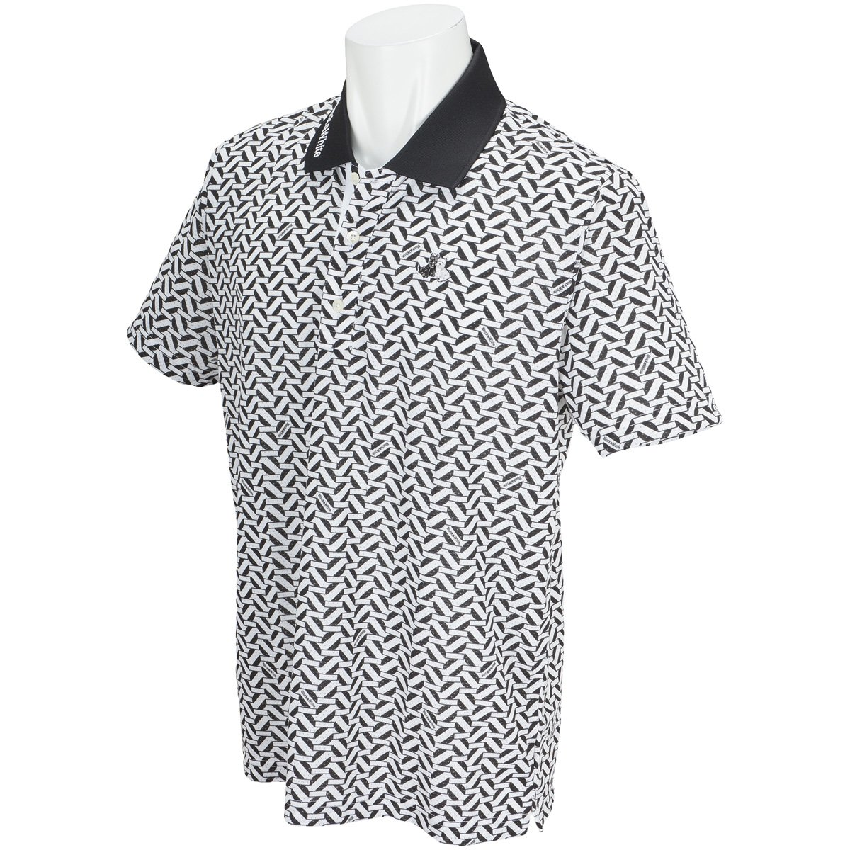 ブラック&ホワイト Black & White 半袖シャツポロシャツ 半袖ポロシャツ LL ブラック B07CXT5NVL