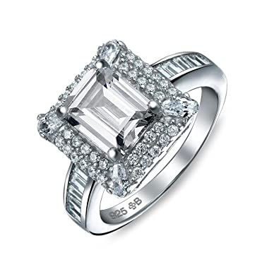 1.00 Ct Sterling Silver Rhodium Finish Cz Antique Style Anniversary Ring Bridal & Wedding Party Jewelry