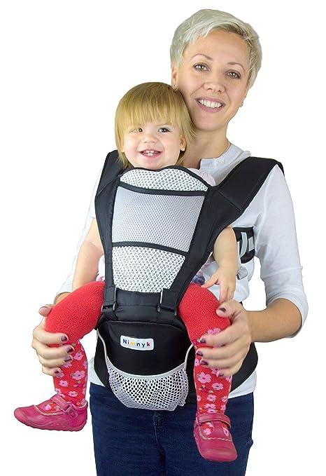 Carrito de bebé original transpirable suave estructurado delantero 2 espalda apoyo correa multiposición de cadera con