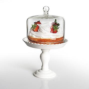 American Atelier Bianca Pedestal Cake Plate with Dome White  sc 1 st  Amazon.com & Amazon.com | American Atelier Bianca Pedestal Cake Plate with Dome ...