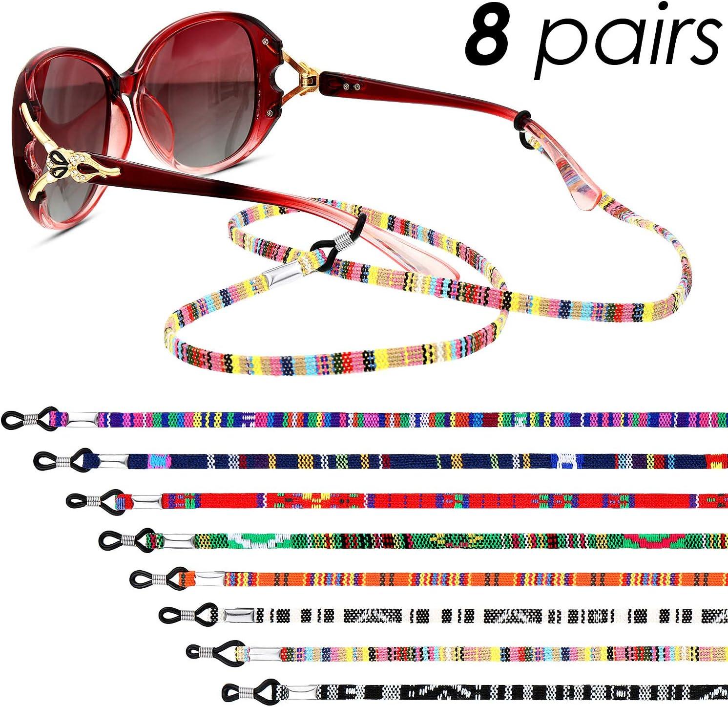 8 Pieces Eyeglass Holder Strap Eyeglass Chain Eyeglass Cord Lanyard for Women Men