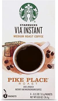 8-Count Starbucks VIA Instant Pike Place Medium Roast Coffee