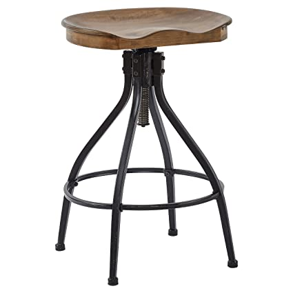 Groovy Stone Beam Industrial Swivel Counter Bar Stool 26 30H Brown Bralicious Painted Fabric Chair Ideas Braliciousco