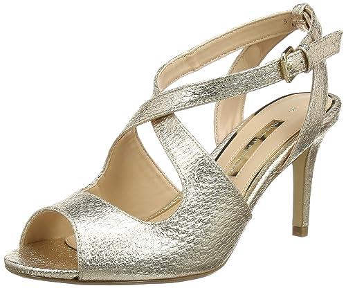 ad3ac338 Dorothy Perkins Blaze, Sandalias de Punta Descubierta para Mujer, Dorado ( Gold 210), 40 EU: Amazon.es: Zapatos y complementos