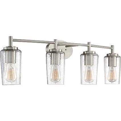 Quoizel Eds8604bn Edison Farmhouse Vanity Bath Lighting 4 Light 240 Watts Brushed Nickel 10 H X 33 W