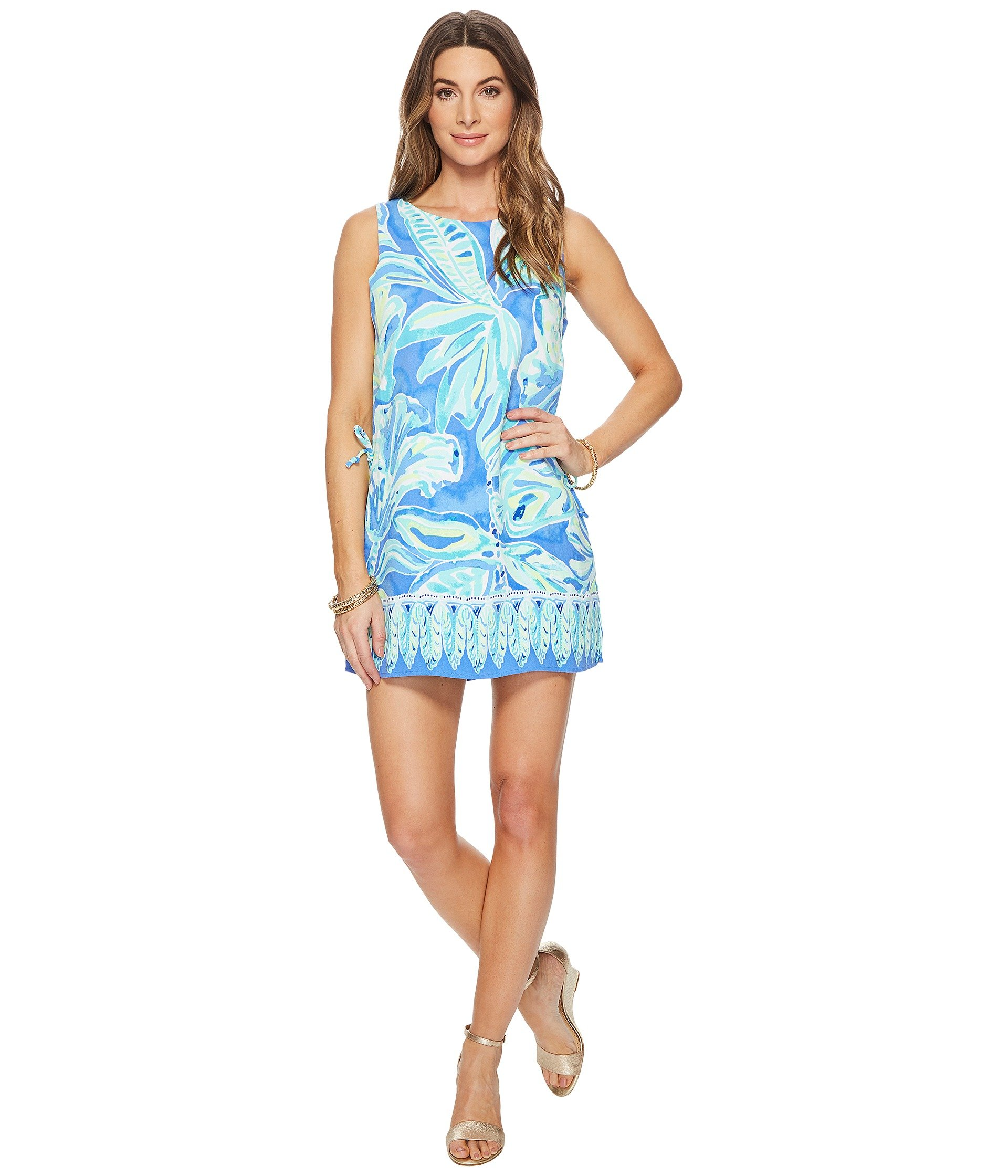 Lilly Pulitzer Women's Donna Romper, Beckon Blue Palm Passage, 10