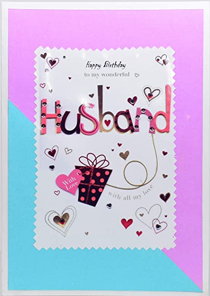 Birthday Card For Husband.Aanyacentric Handmade Birthday Greeting Card For Husband