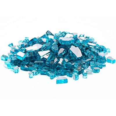 "Margo Garden Products 1/4"" 20lbs Dragon Glass, Blue : Garden & Outdoor"